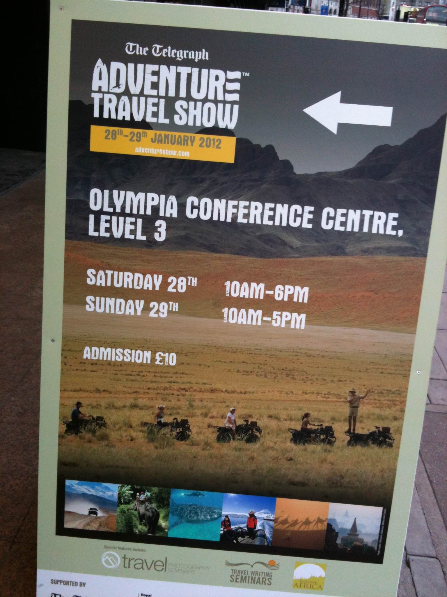 Review: The Adventure Travel Show 2012