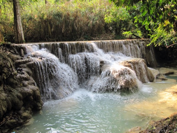 kuang si falls, world romantic hotspot