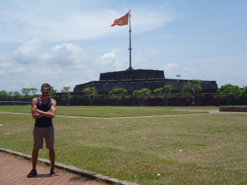 Handsome Travel Blogger at Hue in Vietnam