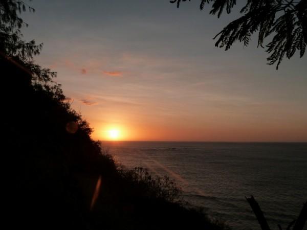 Sunset mantaray, world romantic hotspot