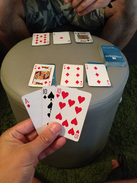 Wahey, I got a winning hand at Shithead!