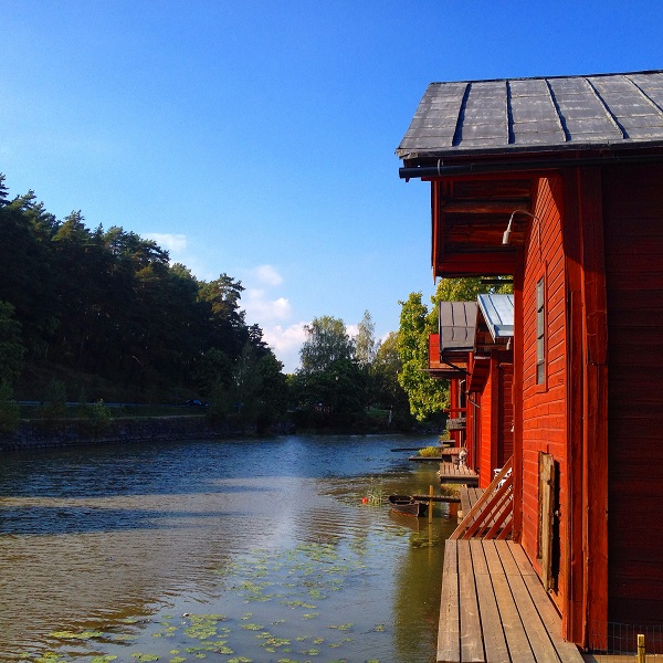 12. The Old Red Warehouses overlooking the River. This is the official picture of Porvoo.
