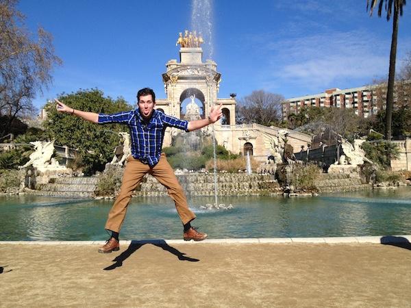 Handsome Travel Blogger in Barcelona