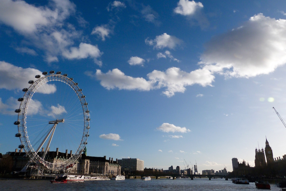 A beautiful, bright and wintry day in London