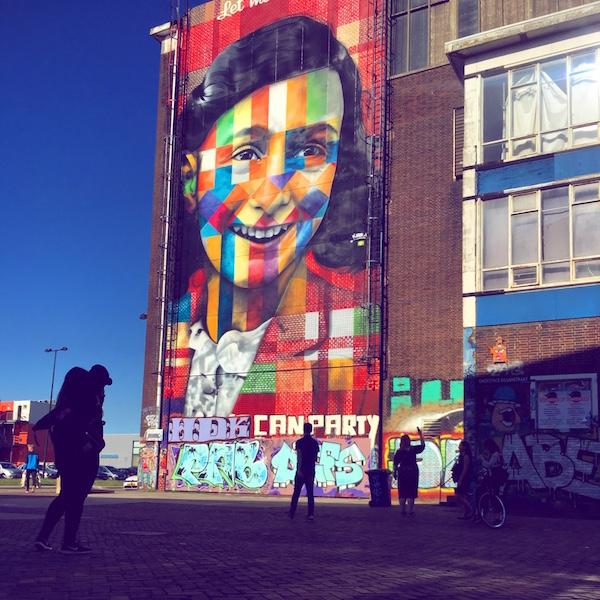 Anne Frank Mural, Amsterdam Noord, NDSM